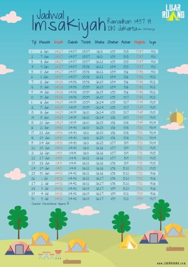 Jadwal Imsakiyah 1437 H.
